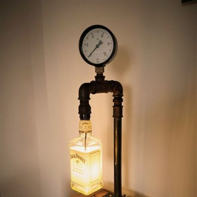 Steampunk JackLamp, 50 cm hoch, 4 Watt LED warmweiss, Kabelschalter